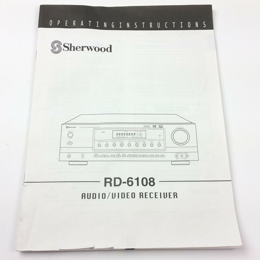 Sherwood RD-6108 Receiver Owners Instruction Manual Original Book Only |  eBay