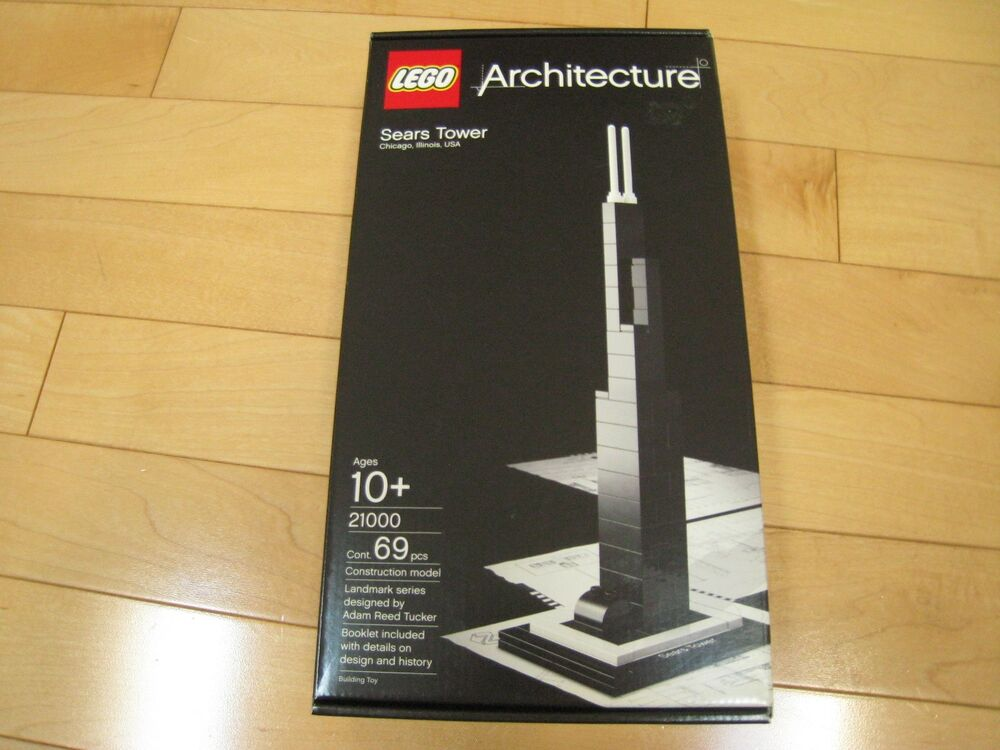Lego Architecture Sears Tower Chicago Illinois Usa New Sealed In Box