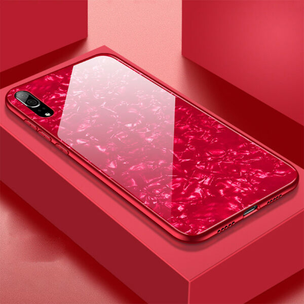 Glossy Tempered Glass Case for Huawei P20 Pro/Lite Shockproof Bumper Back Cover
