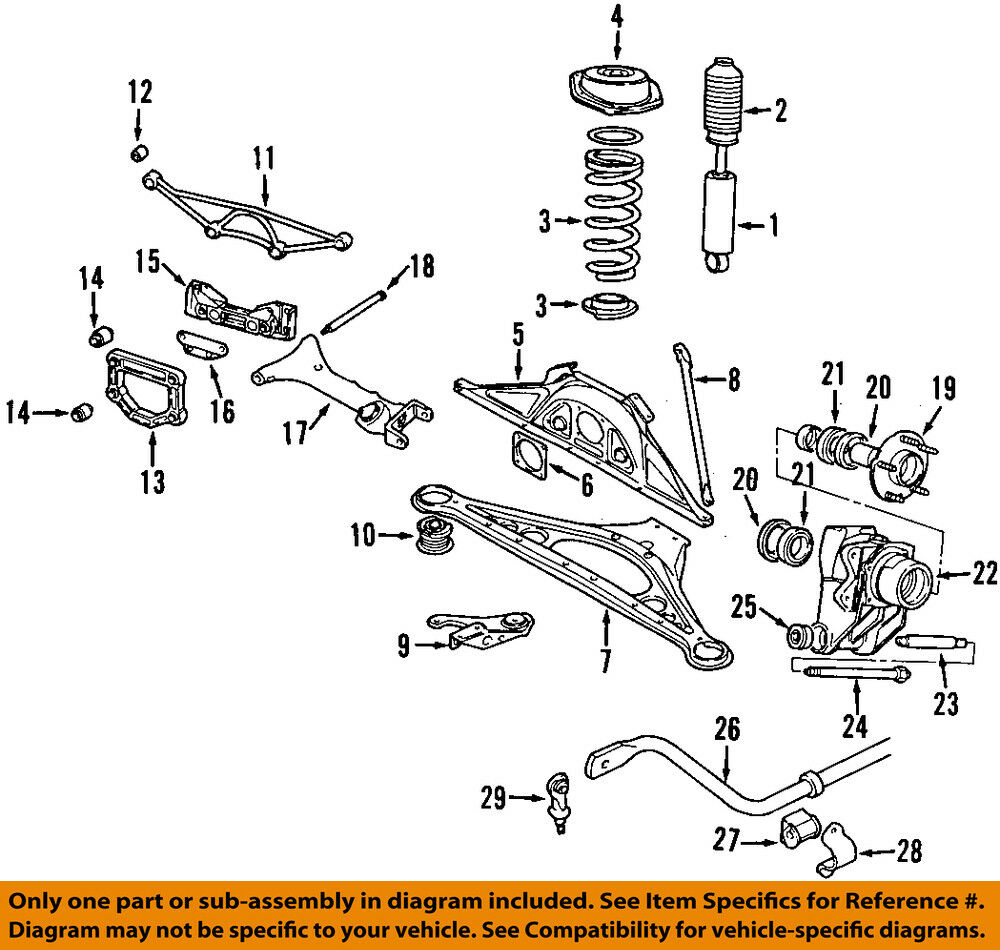 Jaguar Oem 98 06 Xk8 Rear Suspension Shock Mount Mnc3470aa Ebay 1997 Vanden Plas Wiring Diagram