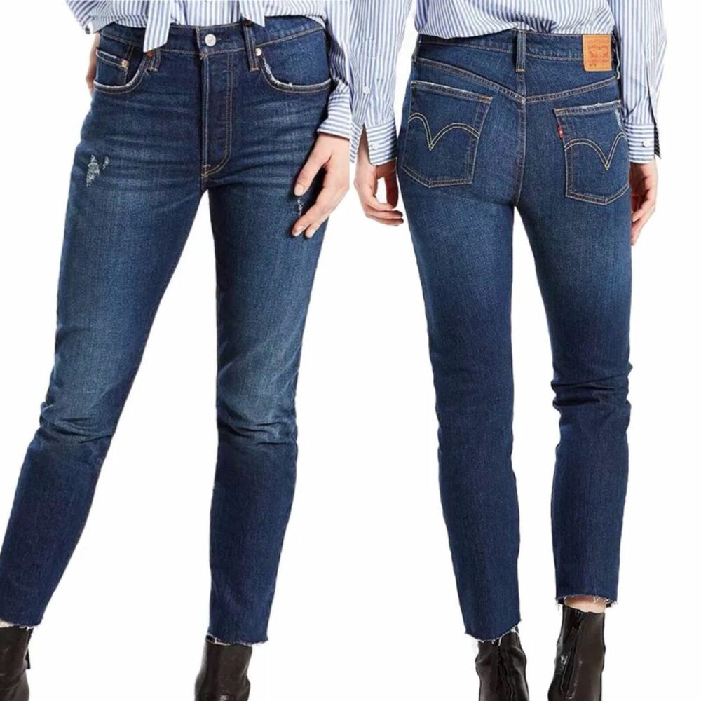 7a9d4dc4cba Details about NWT Levi's 501 Skinny Stretch Button Fly Jeans Women's  Multiple Sizes Available