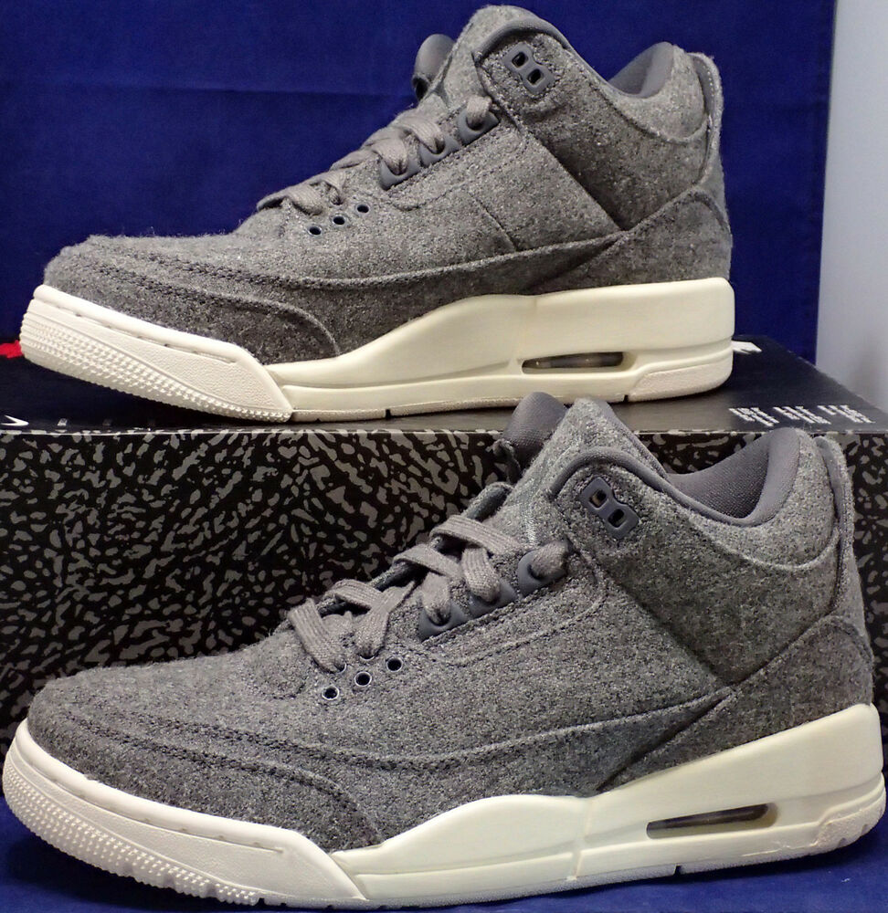 3f602384c859 Details about Nike Air Jordan 3 III Retro Wool Dark Grey Sail SZ US 7 (  854263-004 )