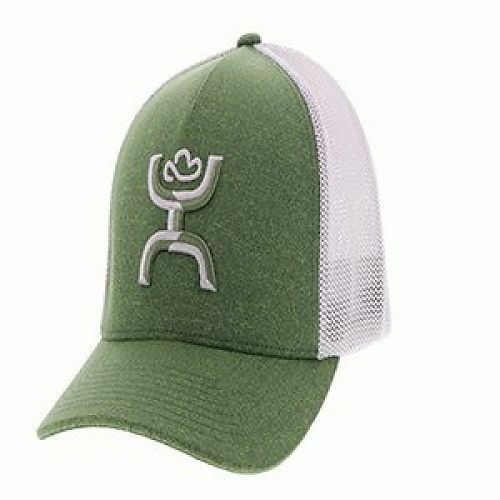 Details about Hooey Hat Coach Green   Grey Flexfit Ball Cap 1775GNGY-01  1775GNGY-02 1b6a14c03ca1