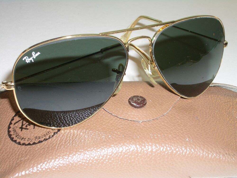 f8881390992a Details about 58  4mm VINTAGE B L RAY BAN ARISTA GOLD-PLATED TEAR DROP G15 AVIATOR  SUNGLASSES