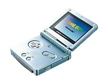 Nintendo Game Boy Advance Sp As Is Pearl Blue Good Lcd Damaged