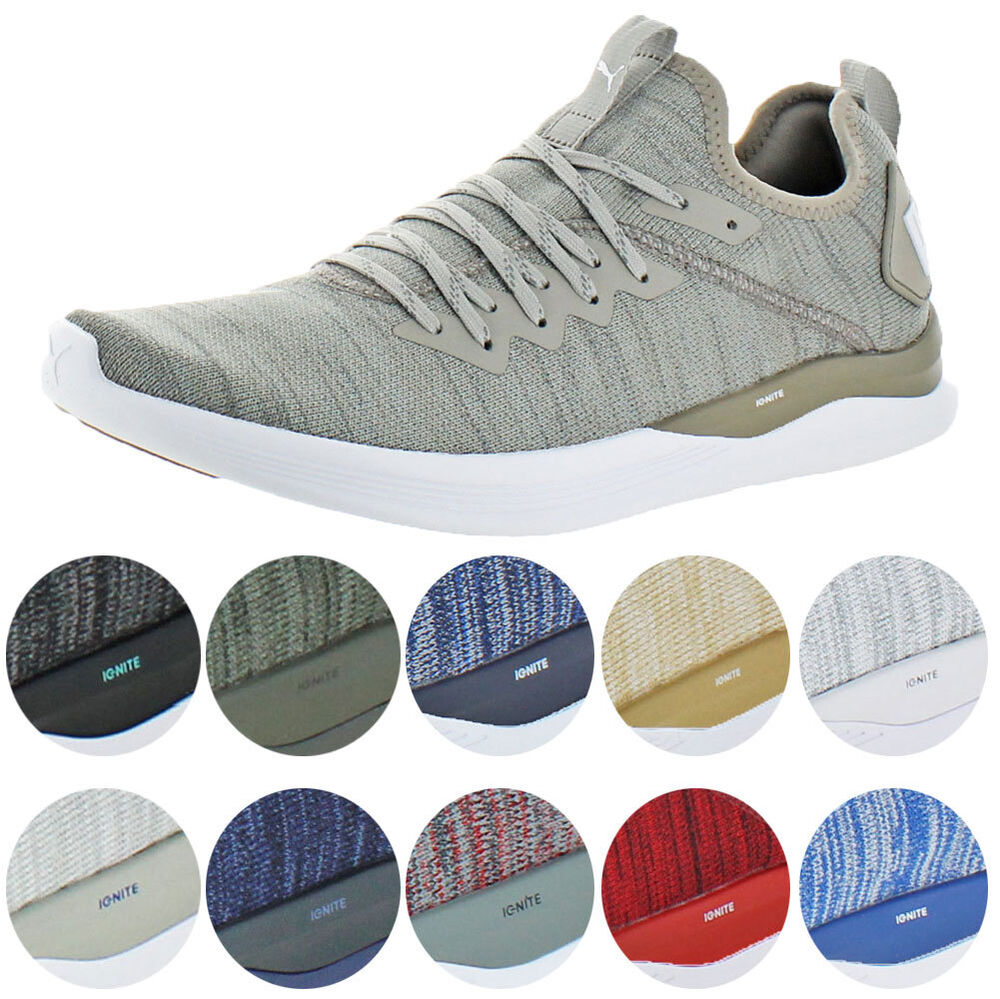 9fad07b418ee Details about Puma IGNITE Flash evoKNIT Men s Knit Mid-Top Athleisure  Trainer Sneaker Shoes