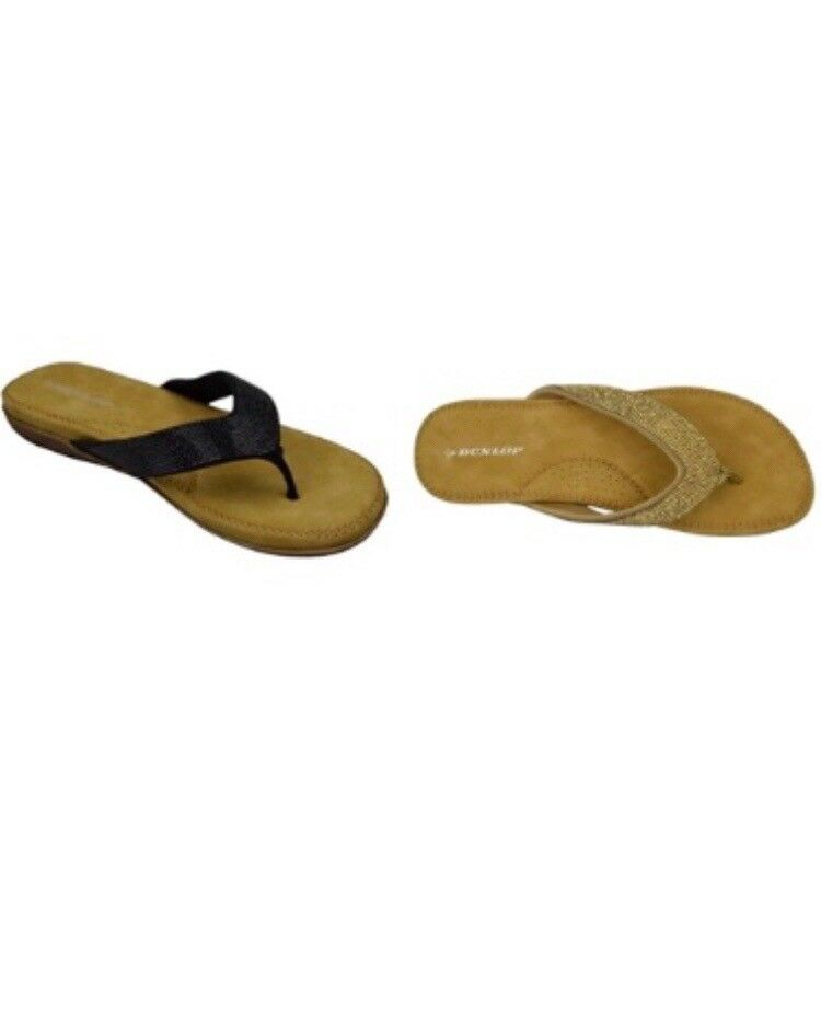 aecde72c0fd8 Dunlop Flip Flops Toe Post Slip On Sandals Memory Foam Ladies