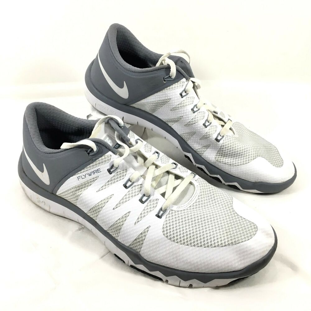 huge discount 8e2ed c7094 Details about GUC Men s Nike Flywire Free 5.0 TR Running Shoes White Gray  Sz 11.5 M