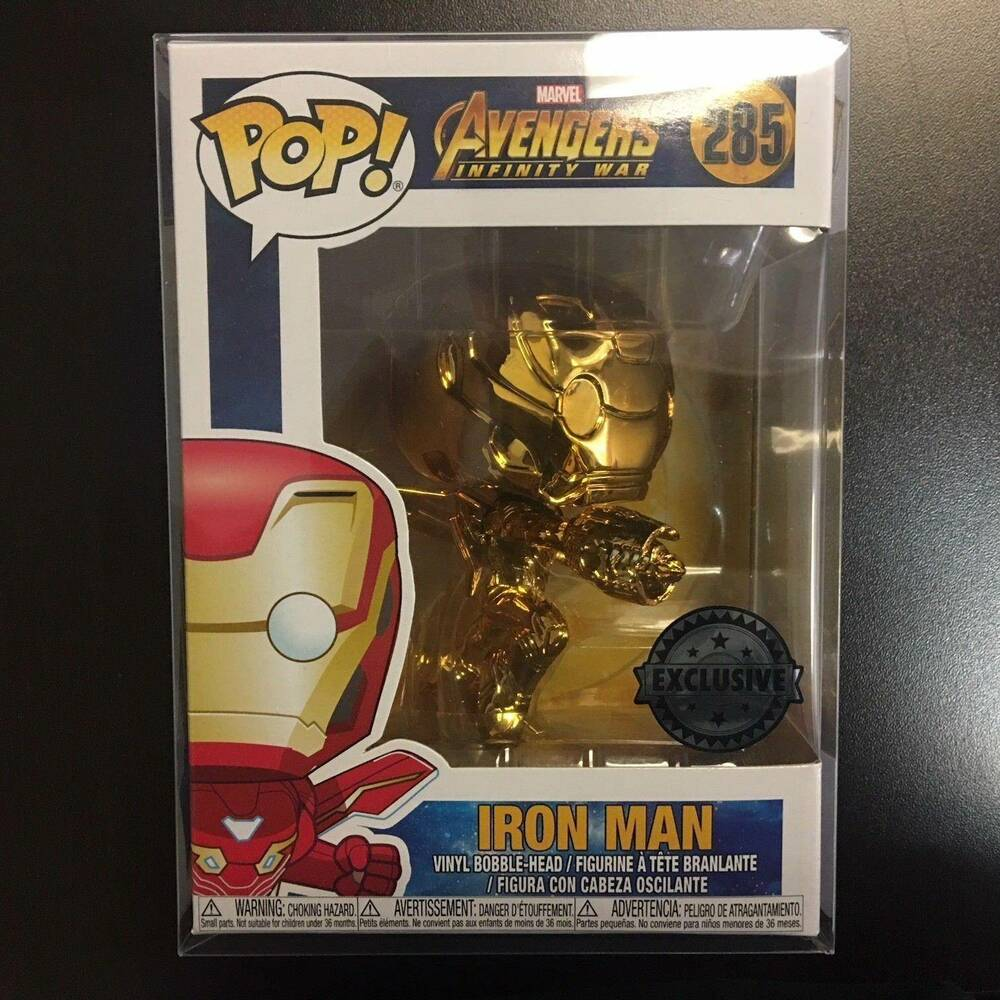 92bd0a9f733 Details about Funko POP Marvel Avengers Infinity Wars Iron Man Chrome Gold  Metallic IN HAND