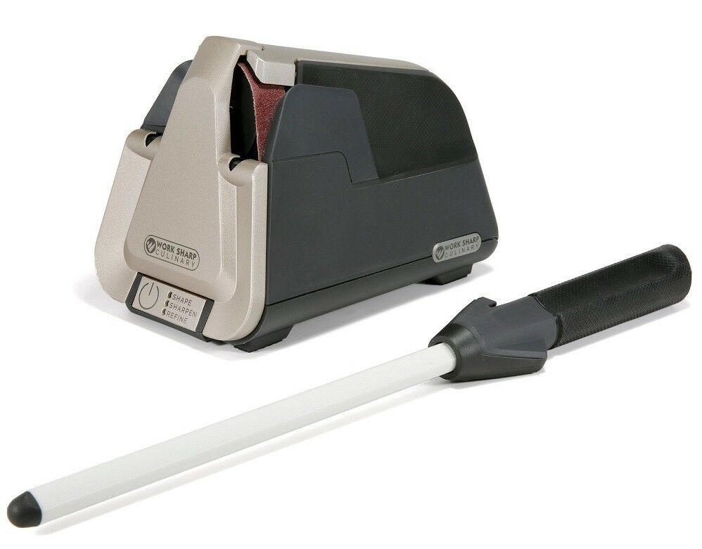 electric kitchen knives work sharp culinary e5 electric kitchen knife sharpener ceramic honing rod 662949039468 ebay 6115