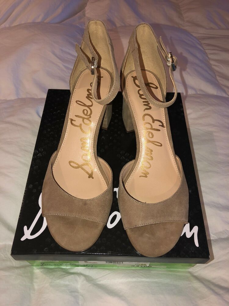 a0abe6149f4bc5 Details about Sam Edelman Womens 10 M 40 Susie Suede Ankle Strap Sandals  Heels Shoes hw