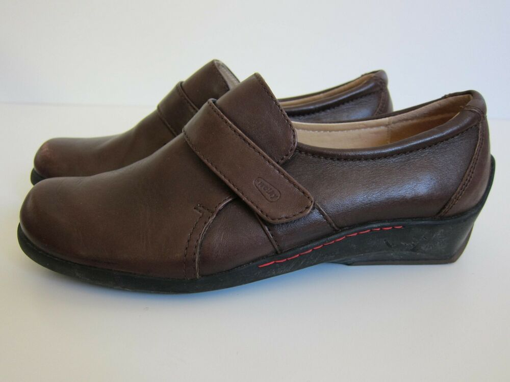 6cdfc0ecd13 Details about Wolky Brown Leather Comfort Walking Loafer Shoe Women s Size  41 9.5