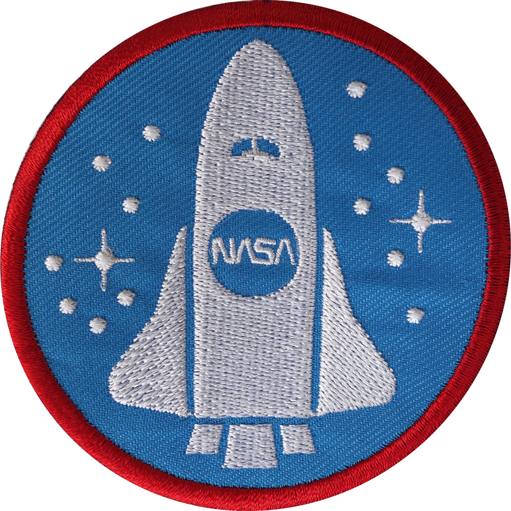 nasa space shuttle iron sew on patch astronaut fancy dress