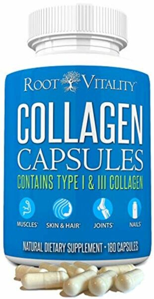 Root Vitality Collagen Pills - Collagen Supplements, Type 1 & 3 - Collagen Capsu