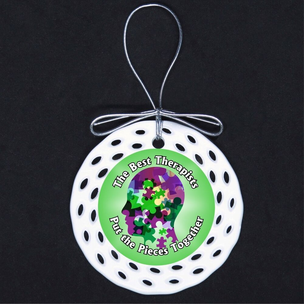 Best Therapists Put Pieces Together Porcelain Ornament Gift Therapy  Counselor | eBay
