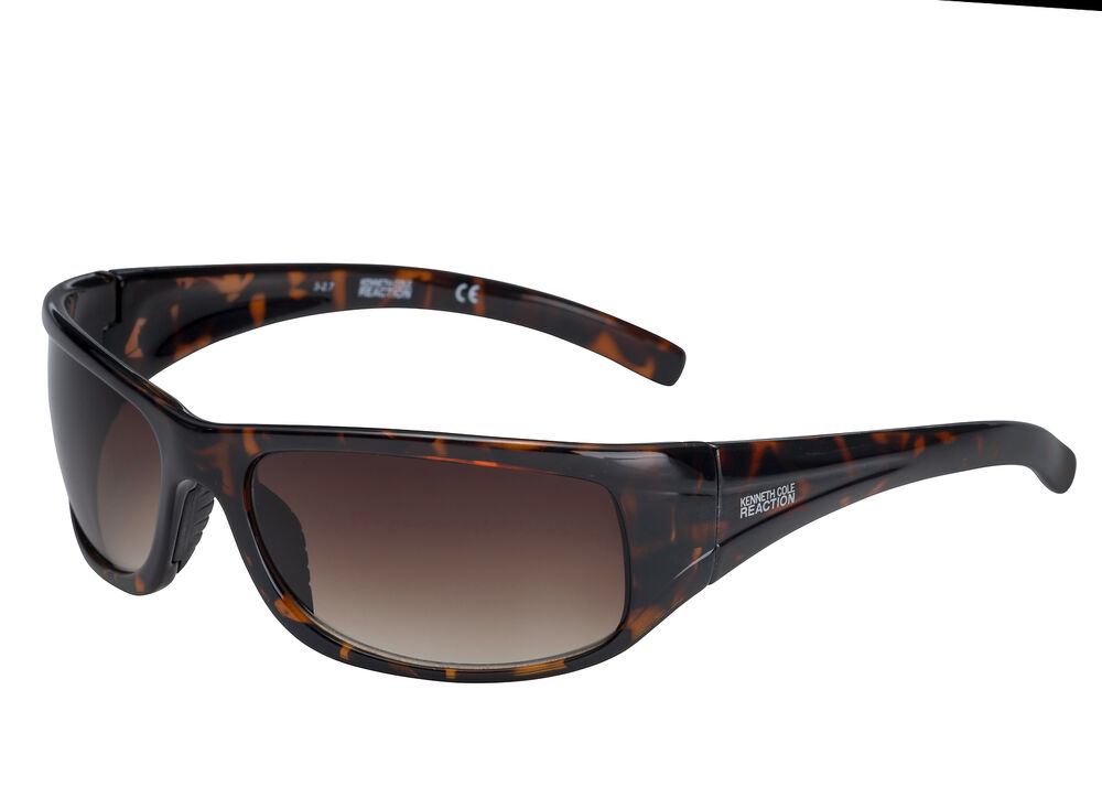 5572c7f3608aa Kenneth Cole Reaction Mens Sunglass Demi Plastic Wrap