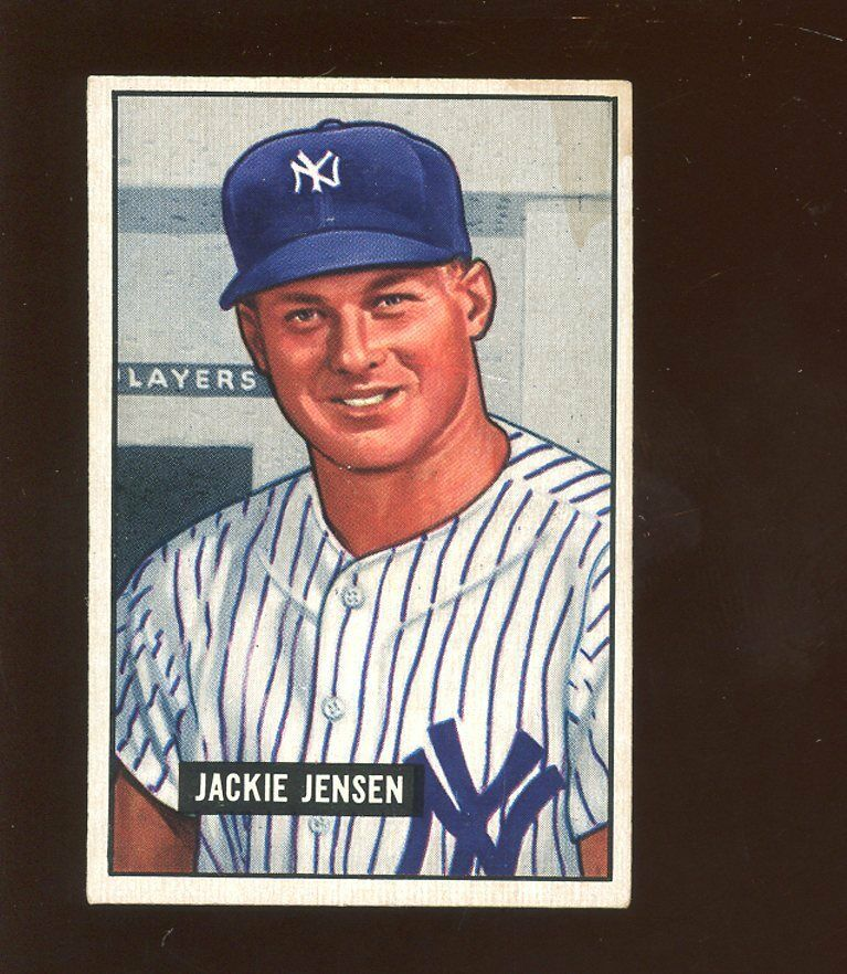 1951 Bowman Baseball Card HIGH #254 Jackie Jensen Rookie