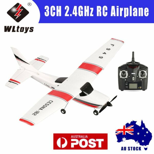 WLtoys F949 3CH 2.4GHz RC Airplane Fixed Wing RTF CESSNA-182 Plane Drone ToyUO