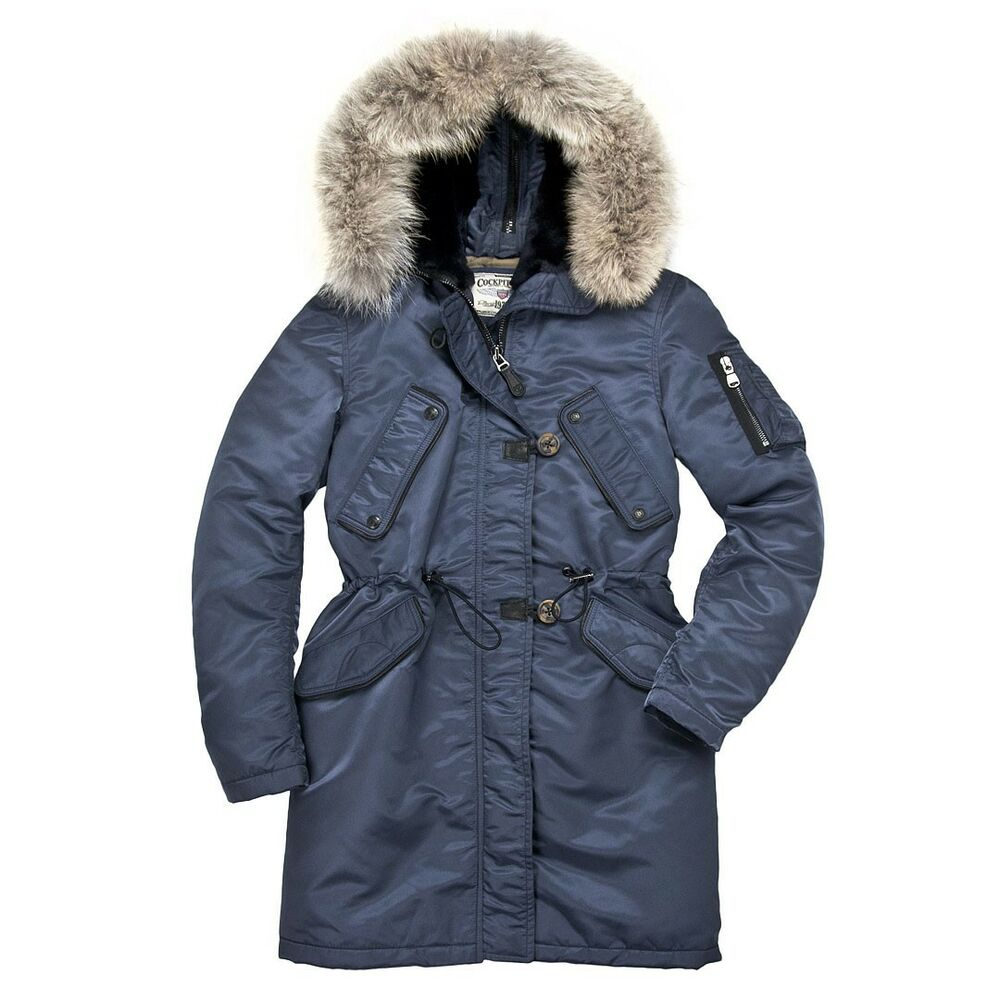 2ad03f9ff8d Details about Cockpit USA Women s Sapphire N3B Parka USA Made