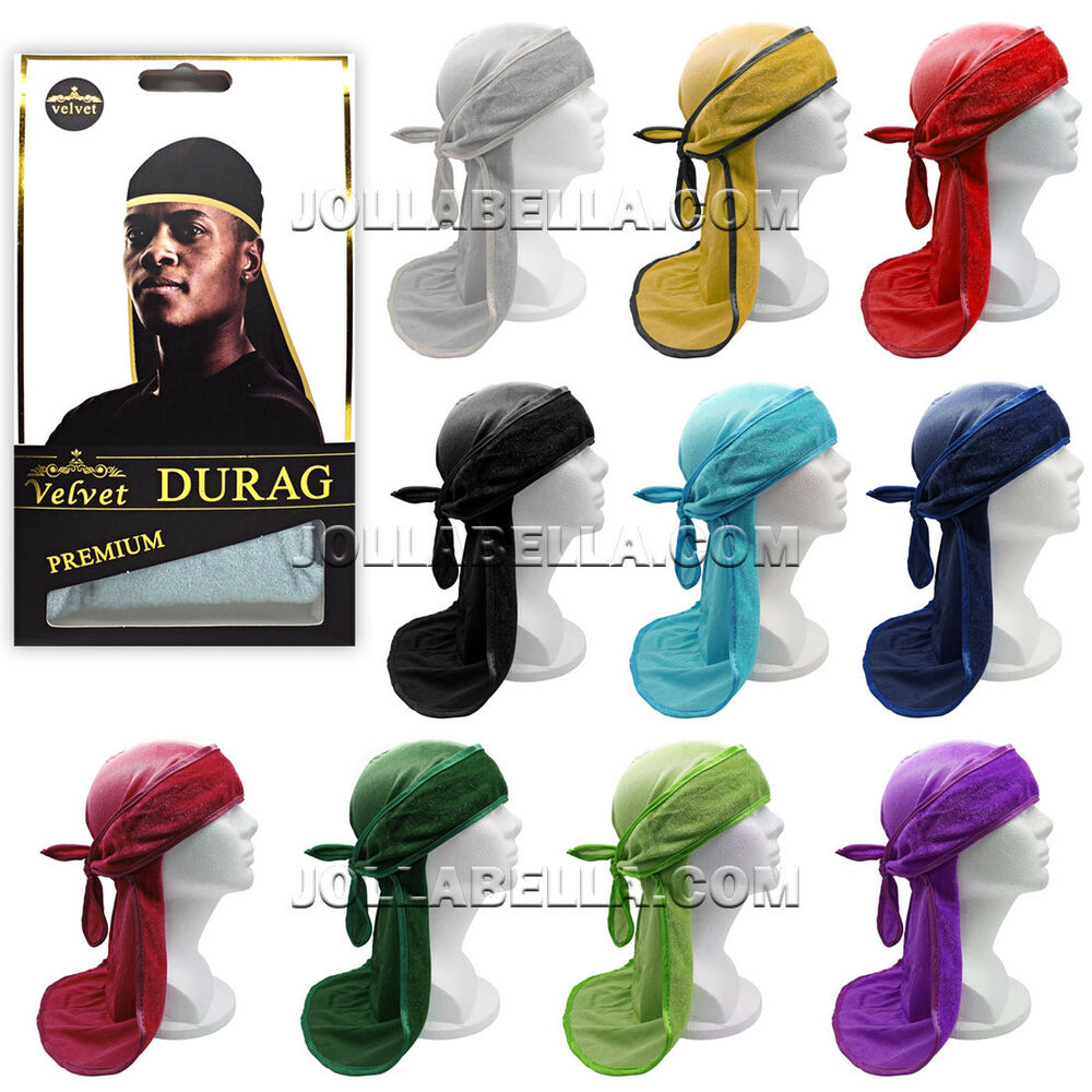 db43391a332 Details about VELVET DURAG MEN S PREMIUM CAPS STRETCH SATIN DOO RAG WRAP  BANDANA HATS  1COLOR