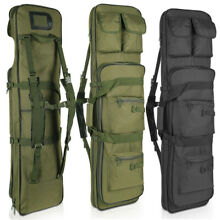 Tactical Carbine Long Rifle Bag Gun Case Firearm Backpack w/ Pistol Handgug Case