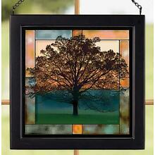 Twilight Tree Stained Glass Art by Judy Syring
