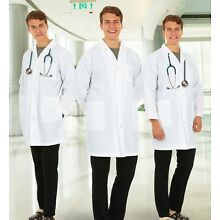 Medical White Lab Coats Uniforms For Men-For Laboratory Industrial & Medical Use