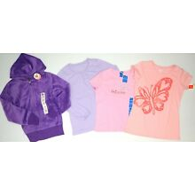 NWT LOT OF 4 SHIRTS HOODIE Lands' End So Hanes Girls 10 12 M  XL Pink Purple NEW