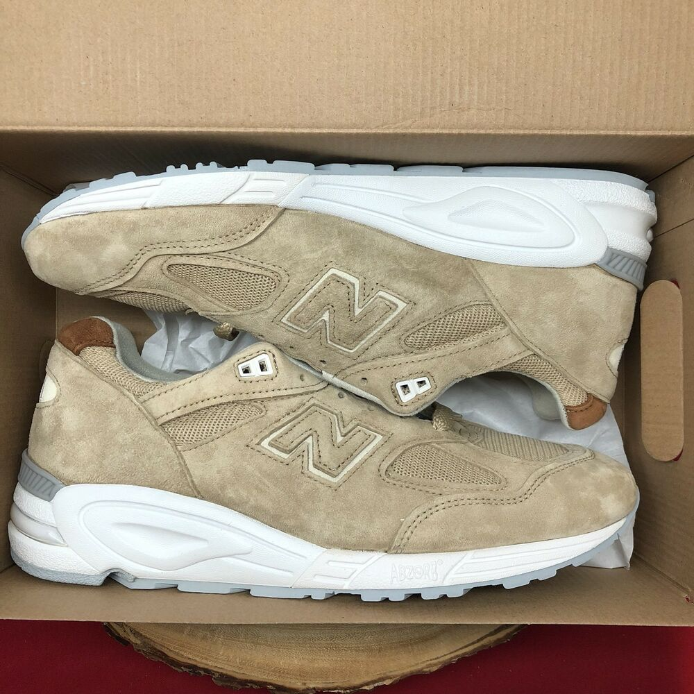 buy online 662c7 5376e Details about NEW BALANCE 990 SZ 10.5 MADE IN USA WINTER PEAKS PACK TAN  WHITE KHAKI M990TN2