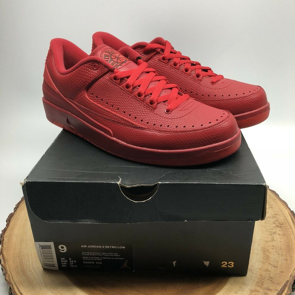 online store dd5bc 791d2 Details about Nike Air Jordan Retro II Low Gym Red October 832819 606 Size  9 Chicago I