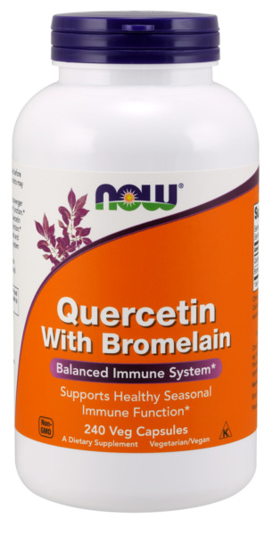 Quercetin with Bromelain 240 Veg Capsules by NOW Foods *Free Shipping*