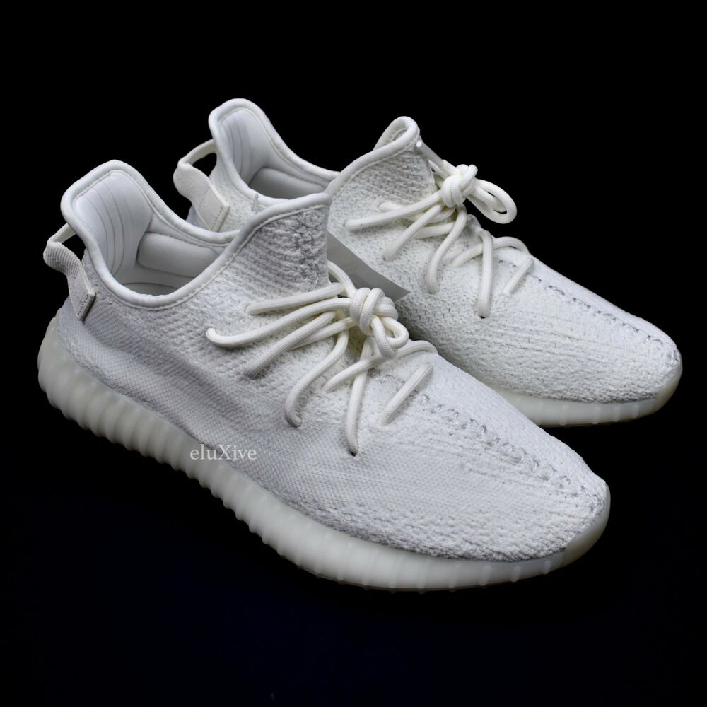 bb3c877349f Details about NWT Adidas Yeezy Boost 350 V2 Cream Triple White Kanye West  Men s 9.5 AUTHENTIC