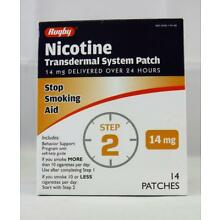 Rugby Nicotine Patch Transdermal System 14mg 14ct Step 2    (DAI)