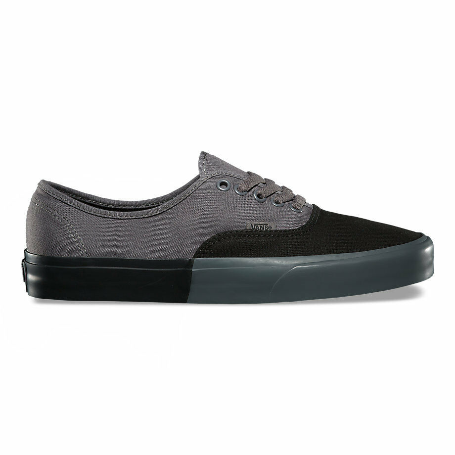 f3f8ee87a4 Details about Vans Authentic (Blocked) Black Pewter Men s Skate Shoes Size  7.5