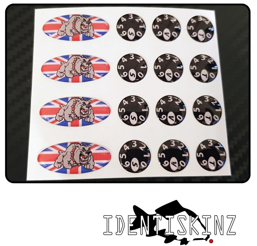 Details about delkim txi std ev plus models domed oval dial stickers kit union jack bd