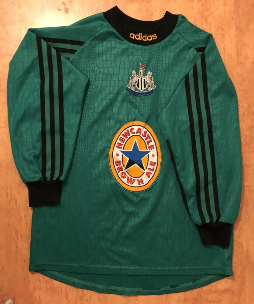bccfbb3cf6f Details about Newcastle United Football Adidas Vintage Goalkeeper Shirt  1994 1995 164 13-14 Ys