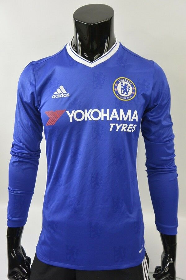 1315080a0 Details about The Blues 2016-2017 adidas Chelsea FC Home Football LS Shirt  SIZE S (adults)