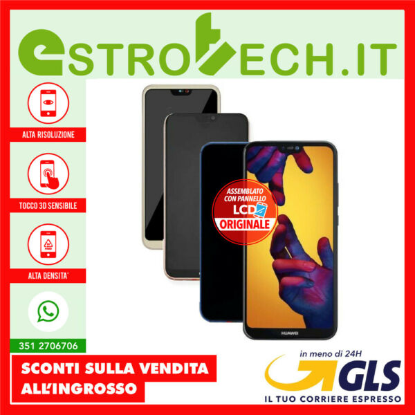 Display con Lcd ORIGINALE per cellulare Huawei P20 Lite ANE-LX1 Touch Screen