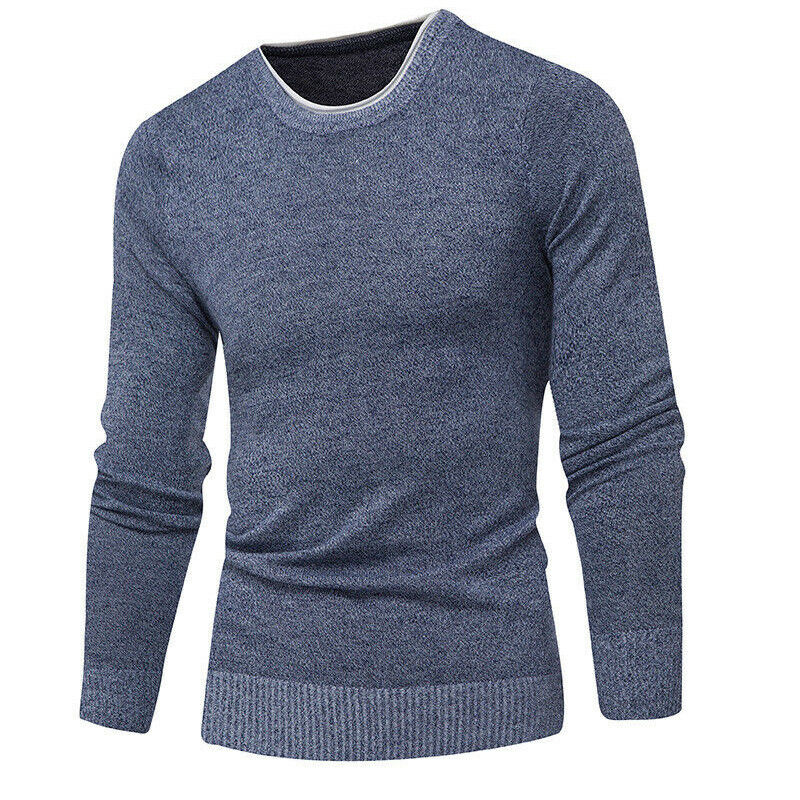 7afd7bdd190 Details about Men s Slim Fit Casual Knitting Jumpers O Neck Warm Sweaters  Pullover Tops
