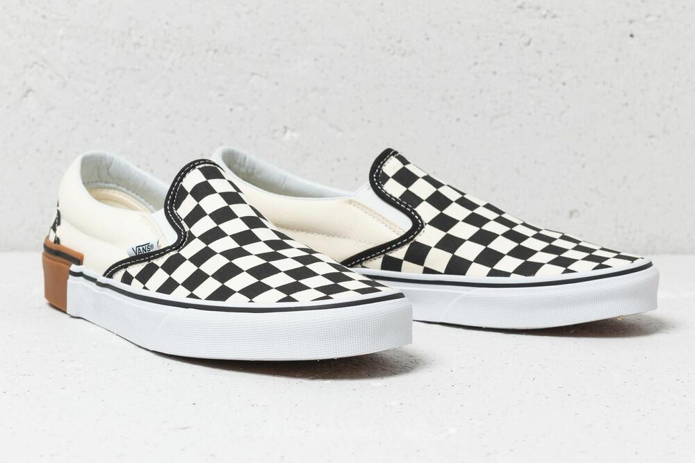 a9502a1fa6 Details about Vans Classic Slip-On Gum Block Checkerboard Shoes Men s size  11.5