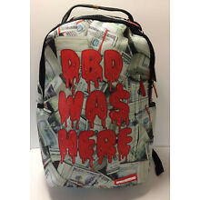 Sprayground DBD Was Here Money Drip Laptop Backpack School Book Bag LIMITED 909809f2105ea
