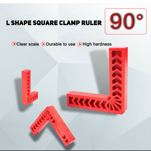 L Shape Corner Clamping Square Right Angle Clamps Ruler 90 Degree Plastic Tool