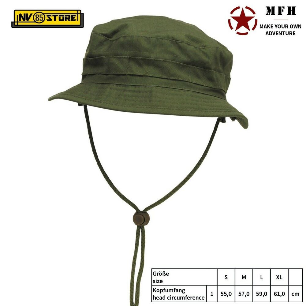 642d0f6f2d4 Boonie Hat GB Falda Corta MFH Cappello Militare Jungle Softair Caccia -  Verde OD