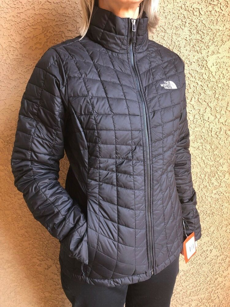 32ee954f Details about The North Face womens TNF Black Thermoball Jacket Size XS S M  L