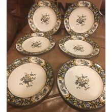 "MINTON Antique ""CHINESE BLOSSOM"" England 8"" Plates Set Of 6."