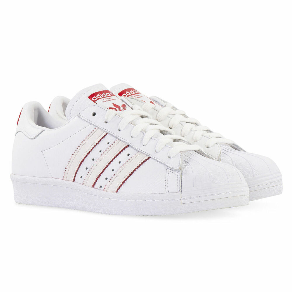 c7a39e46505dff Details about Adidas Originals Superstar 80 s CNY DB2569 White Scarlet  Chinese New Year Mens