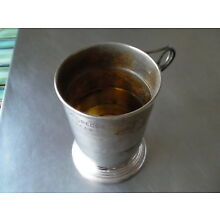 Vintage Rumpp Silverplate Travel Cup/Collapsible Engraved McGregor/Austin TX