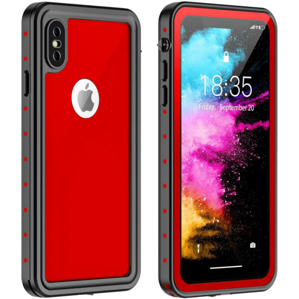 Waterproof Shockproof Fingerprint Scanner Durable Case for iPhone XS Max / XR XS