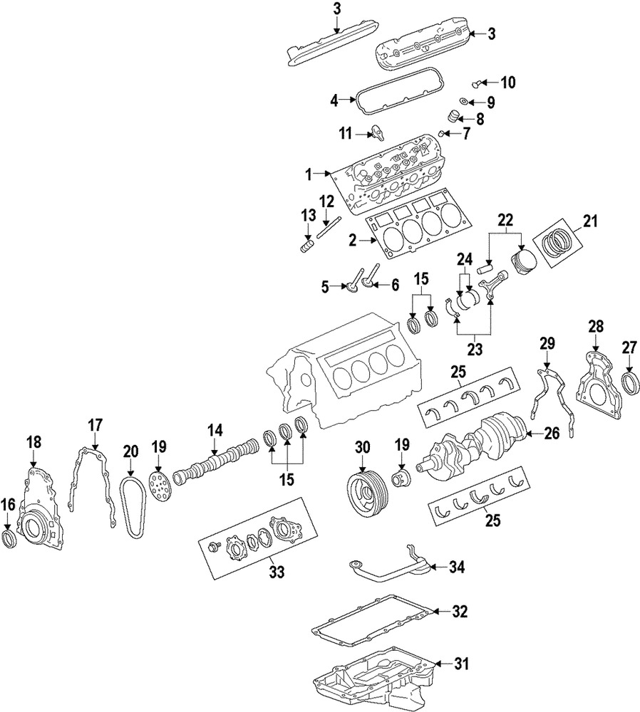 genuine gm oil pump 12625823