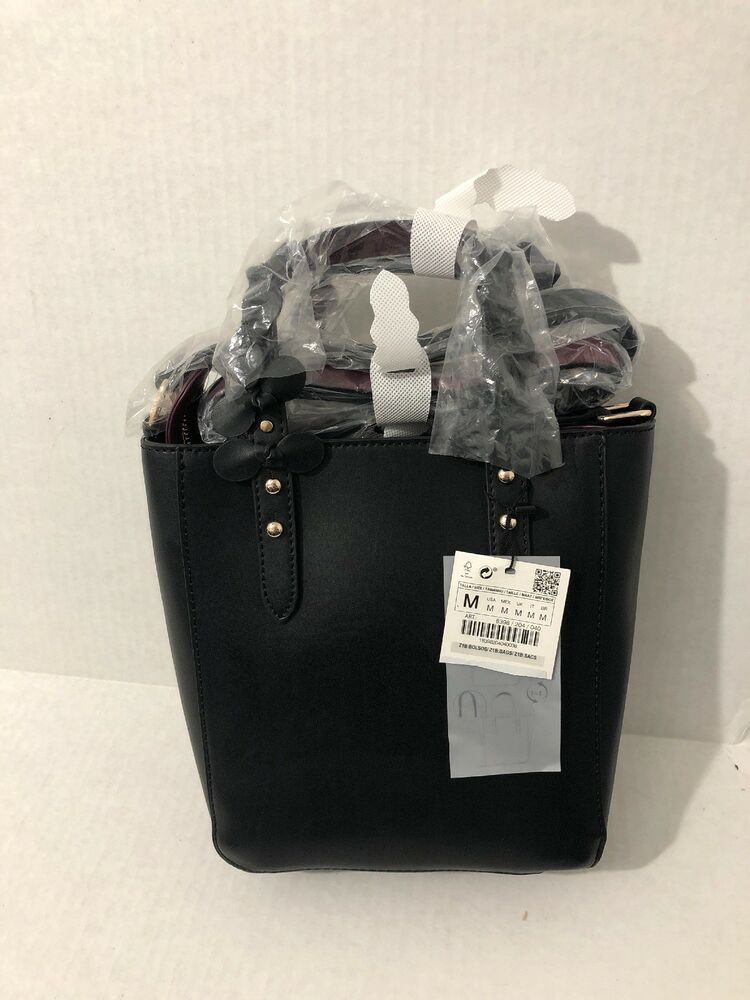 5bc76eab3c6b ZARA Mini Tote Bag INTERCHANGEABLE HANDLES w  FLORAL DETAIL HandBag NWT  8398 204